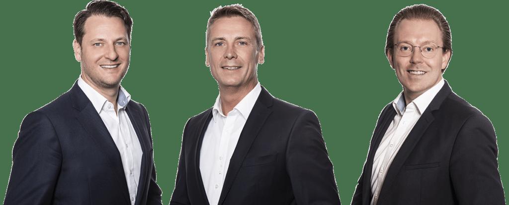 Die Geschäftsführung der ZMI GmbH: Daniel Vogler, Steffen Berger, Jonathan Martin (v.l.n.r.)