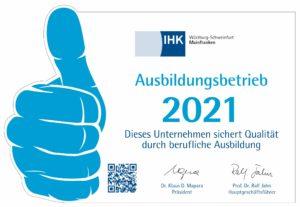 Ausbildungsbetrieb 2021 IHK